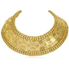 BALMAIN Gold Plated Collar Necklace (2.425 BRL) ❤ liked on Polyvore featuring jewelry, necklaces, accessories, collares, balmain, gold, collar jewelry and collar necklace