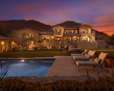 This pool makes it easy to relax and enjoy the weather   AZ Residential Luxury Custom Home - Arizona Luxury Personal Resort - Desert Star Construction   http://desertstarconstruction.com/