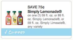 New Simply Lemonade Coupon!!