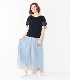 ボイルマキシスカート|スカート | crossplus(クロスプラス) | CROSS PLUS