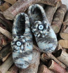 Fräulein Inka: Anleitung : Hausschuhe stricken und filzen
