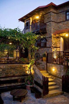 Traditional stone house in Skotina, Macedonia | Greece