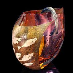 "*Art Glass - ""Nagare"" by Hiroshi Yamano"
