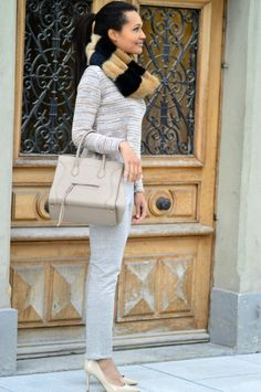 #SPORTSWEAR #celine #phantom #sweater #sweatpants #beige #pumps #heels #faux #fur #infinity #scarf #switzerland #luxury Beige Pumps, Celine, Pumps Heels, Switzerland, Faux Fur, Infinity, Sportswear, Personal Style, Sweatpants