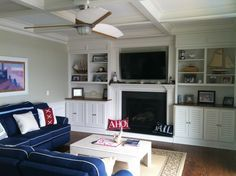 nautical living room red white blue | ... Decorating & Crafts ...