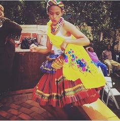 """Media by woogui: An African Narrative~XIBELANI ~ """" If we only wear our traditional clo. African Print Clothing, African Print Dresses, African Dress, Traditional Wedding Attire, Traditional Outfits, Traditional Weddings, Xhosa Attire, African Attire, African Women"""