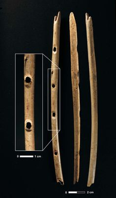 Mammoth Ivory Ice-Age Flute (43,000 years ago) ~ Second world's oldest known musical instruments has been discovered by German archaeologists. The 18.7-centimetre-long flute, which is carved from mammoth ivory, has three finger holes and would have been capable of playing relatively complex melodies.