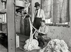 "Warping Boy: December 1908. ""Boy at warping machine, Catawba Cotton Mill. Newton, North Carolina."" Glass negative by Lewis Wickes Hine."