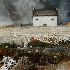 'A stormy night on the farm' by Louise O'Hara of DrawntoStitch www.drawntostitch.com