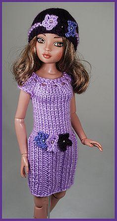 lilac5   Flickr - Photo Sharing! Barbie Dolls Diy, Barbie Skipper, Sindy Doll, Doll Clothes Barbie, Barbie Knitting Patterns, Knitting Dolls Clothes, Barbie Clothes Patterns, Crochet Clothes, Crochet Doll Dress