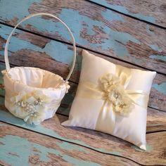 YOU DESIGN / Flower girl basket / ring bearer pillow