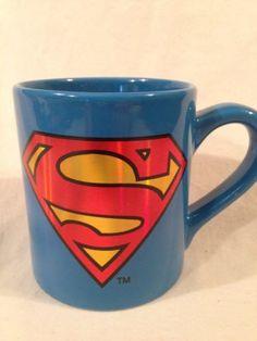 Ceramic-Superman-Coffee-Mug-DC-Comics-New-4-Blue