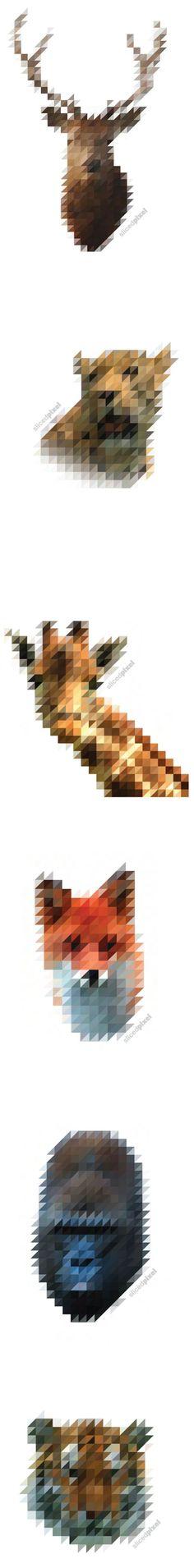 Animals x Half pixels