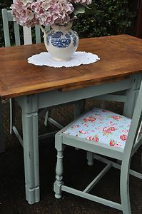 VINTAGE SHABBY CHIC EXTENDABLE COUNTRY KITCHEN TABLE AND CHAIRS CATH KIDSTON | eBay