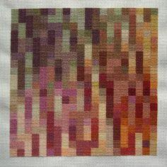 Lowlywormus: cross-stitch color study.