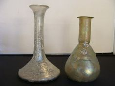 Roman tear bottles. ~The history of the tear bottle is captivating and poignant. Legends of tear bottles or lachrymatories abound in stories of Egypt and middle eastern societies. Tear bottles were prevalent in ancient Roman times, when mourners filled small glass vials with tears and placed them in burial tombs as symbols of love and respect.