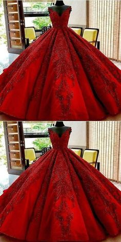 Long Floor Length ball gown quinceanera dresses Evening Dresses Glamorous Prom Dress burgundy Graduaction Dresses by ainiprom, $275.79 USD