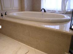 Crema Marfil Marble Tiles Mosaics polished honed at WholeSale Prices Tile Tub Surround, Amazing Bathrooms, Better Bathrooms, Mosaic Tiles, Marble Tiles, Granite Countertops, Corner Bathtub, Master Bathroom, Home Improvement