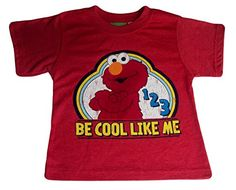 """Sesame Street Little Boys Elmo Be Cool Like Me Distressed Graphic T-Shirt   Sesame Street Little Boys Elmo Be Cool Like Me Distressed Graphic T-Shirt This vintage red short sleeves distressed graphic tee has an image of Elmo and """"BE COOL LIKE ME"""" printed on the front. 60% cotton, 40% polyester  http://www.beststreetstyle.com/sesame-street-little-boys-elmo-be-cool-like-me-distressed-graphic-t-shirt-2/"""