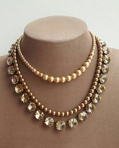 Where Sell Gold Jewelry Info: 5673844186 Pearl Necklace Wedding, Pearl Jewelry, Crystal Necklace, Gold Jewelry, Beaded Jewelry, Jewelery, Beaded Necklace, Jewelry Case, Etsy Jewelry