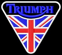 Triumph UK triangle toppa ricamata termoadesivo patch