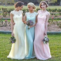 Letitia Crochet Silk Bridesmaid Dresses