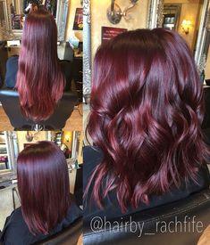 Bright Red Violet Mermaid Hair