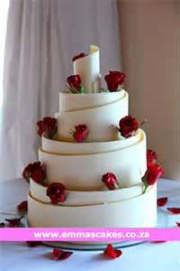 Wedding Cake Made With A White Chocolate Lace Collar