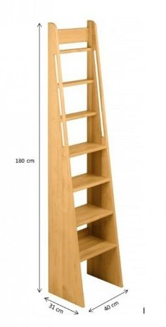 BioKinder 22257 Noah Treppen-Leiter Hochbett aus Massivholz Erle 180 cm Shed To Tiny House, Tiny House Stairs, Attic Stairs, Attic Loft, Attic Rooms, Bedroom Loft, Stair Ladder, Tiny Spaces, Staircase Design
