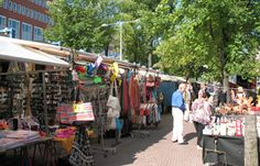 Waterloopleinmarkt, a known flea market in the center of Amsterdam from monday till saturday from 9 to 18 hours (waterlooplein) http://www.waterloopleinmarkt.nl/
