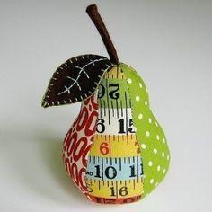 Pear pin cushion pattern