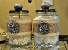 diy christmas upcycling glass jars for gifts, bathroom ideas, christmas decorations, crafts, diy, repurposing upcycling