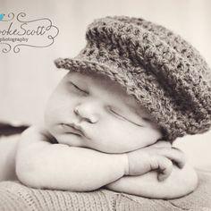 467cde44cd6d6 Items similar to Newborn Baby Flat Cap Brown Baker Boy Newsboy Hat Photo  Prop on Etsy