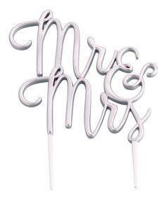 Another great find on #zulily! Silvertone 'Mr. & Mrs.' Wedding Cake Topper #zulilyfinds