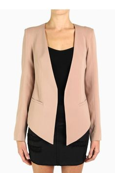 James Jeans V-Blazer in Peach Nude Outerwear