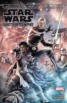 Journey to Star Wars: The Force Awakens - Shattered Empire #4 (of 4)  Concluding the first new-canon comic tale set between episodes VI and VII! As the Empire Shatters around them, Rebel heroes fight for a better tomorrow! Greg Rucka (Punisher, Cyclops, Wolverine) and Marco Checchetto (Punisher, Avengers World) take us into the more recent long, long time ago!