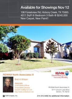 New Listing Available for Showings Wed Nov 12