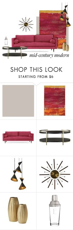 """""""The Modern Ms"""" by patricia-dimmick ❤ liked on Polyvore featuring interior, interiors, interior design, home, home decor, interior decorating, Pantone Universe, Joybird, Global Views and Cathy's Concepts"""