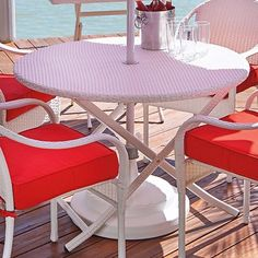 A classic dining table that's perfect, no matter how many guests you have. Patio Dining, Dining Table, Apartment Porch, Outdoor Tables, Outdoor Decor, Space Saving Storage, Dining Sets, Create Space, Small Spaces