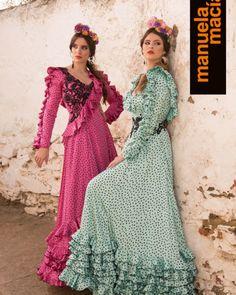 Colección 2018 - Manuela Macías Moda Flamenca Spanish Dress Flamenco, Ruffle Dress, Fashion Dresses, Gowns, Costumes, My Style, Design, Ballroom Dress, Victorian Dresses
