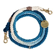 Hand-dyed in gorgeous shades of blue and crafted with marine-grade rope and brass hardware in Brooklyn, New York, this adjustable rope leash is ideal for a stroll on the boardwalk. Plus, every purchase encourages adoption through Found My Animal's support