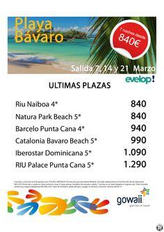 Oferta Playa Bávaro - Ultimas plazas 7,14 y 21 Marzo ultimo minuto - http://zocotours.com/oferta-playa-bavaro-ultimas-plazas-714-y-21-marzo-ultimo-minuto/