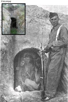 milicianos en trincheras - refugio