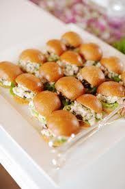 Cute little sandwiches -- could do egg salad, crab salad, etc.
