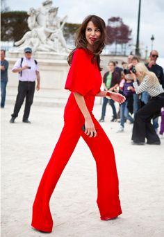 Lady in Red: Caroline Seiber in Valentino
