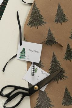 Pine Tree Gift Tags (Free Printable) | Finding Silver Pennies #christmasinspiration #gifttags #freeprintables #watercolor
