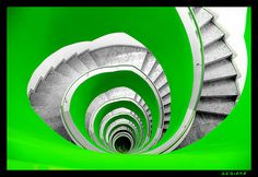 green whorl #staircases