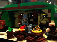 Lego employees build an incredible, life-sized Lego hobbit house