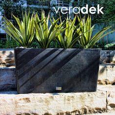 Veradek Midori 9 in. W x 31 in. H Black Trough Plastic Planter-MLO31B at The Home Depot
