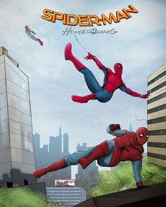 Spider-Man Homecoming Awesome fan Art Credits by: Marvel Comic Universe, Marvel Art, Marvel Heroes, Marvel Movies, Marvel Cinematic Universe, Marvel Avengers, Comics Spiderman, Michael Jr, Arte Nerd